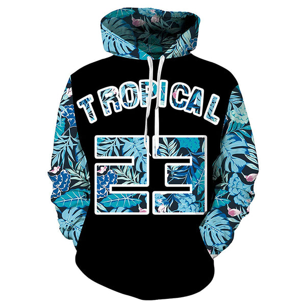 Tropical 23 Floral Graphic Hoodie