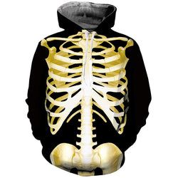 Skeleton Halloween Graphic Hoodie