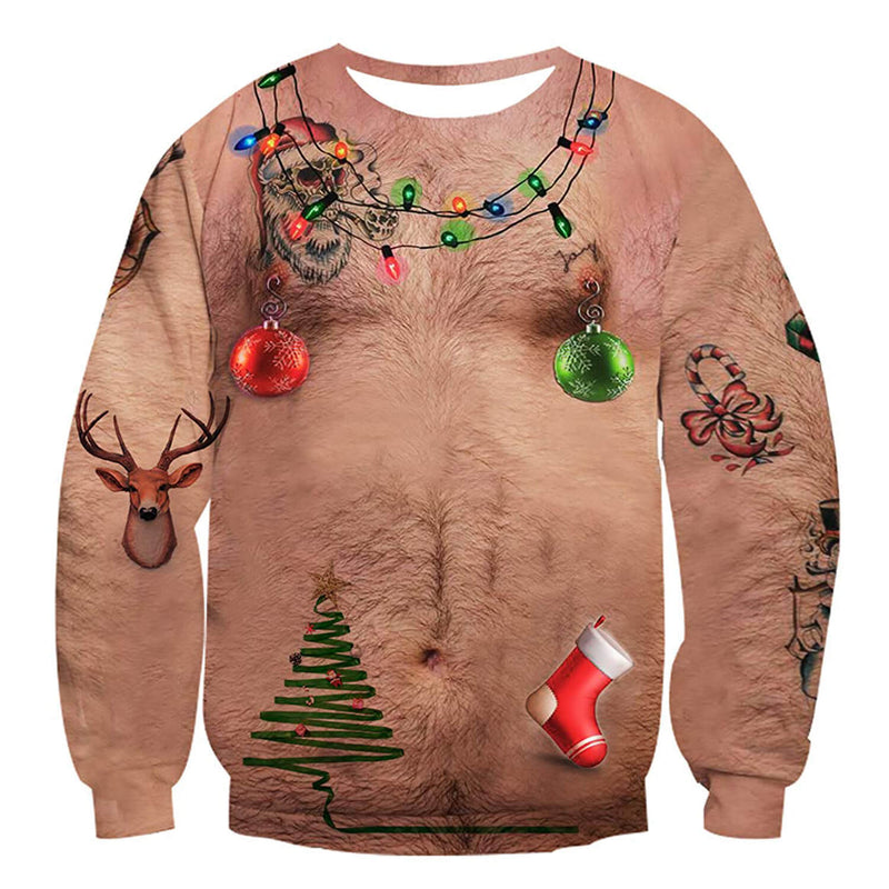 Chest Hair Ugly Christmas Sweater