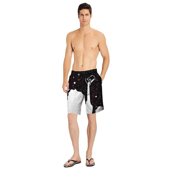 Pouring Cup Milk Funny Swim Trunks