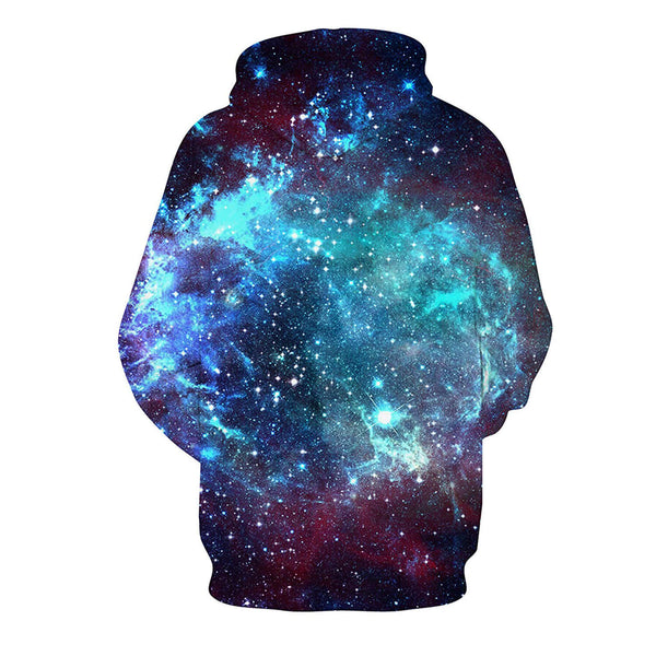 Space Galaxy Hoodie Blue Space Galaxy Sweatshirt