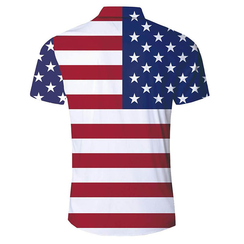 Funny American Flag Hawaiian Shirt