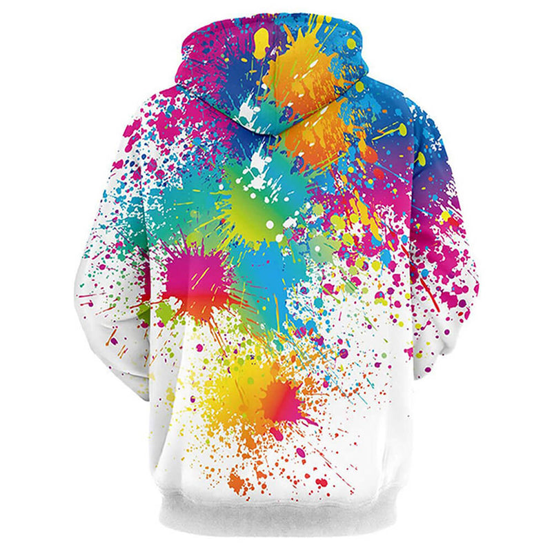 Graphic Colorful Painting White Hoodie