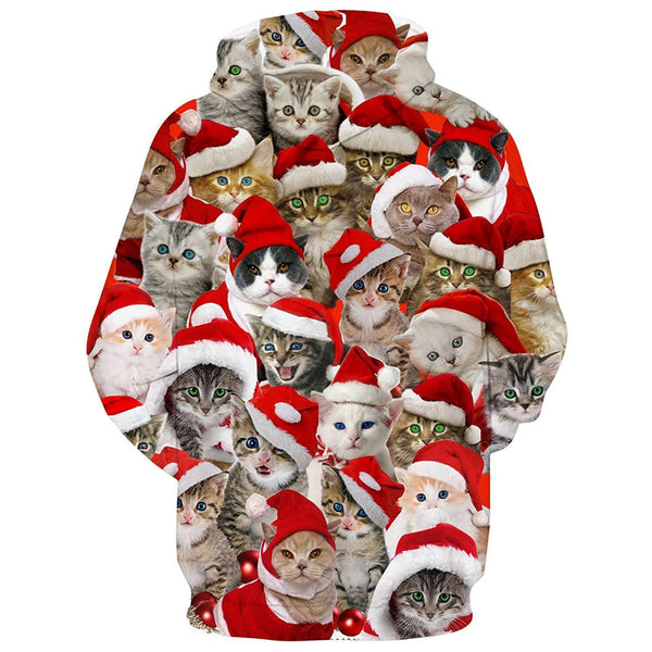 Christmas Cats Graphic Hoodie