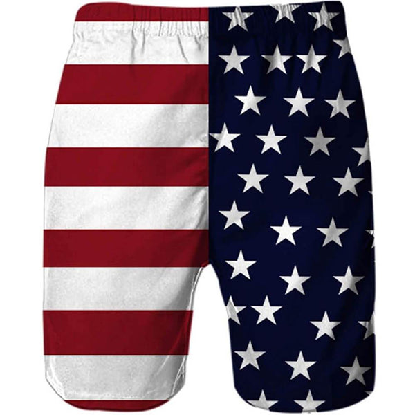 American Flag Eagle Funny Swim Trunks