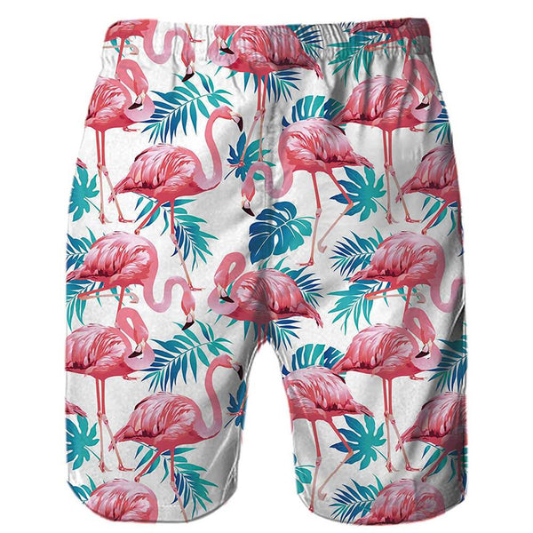 Pink Flamingo Swim Trunk