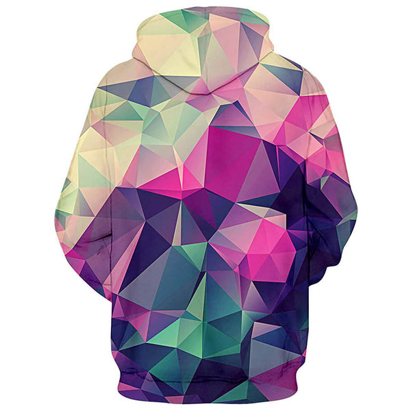 Geometric Diamond Graphic Hoodie