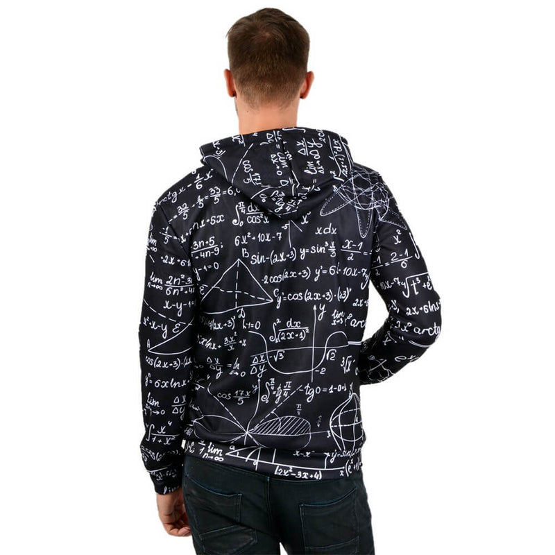 Black Math Graphic Hoodie
