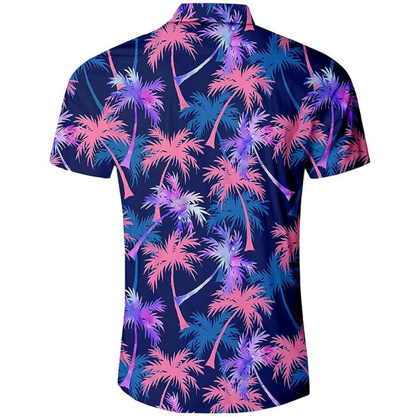 Blue Coconut Tree Funny Hawaiian Shirt