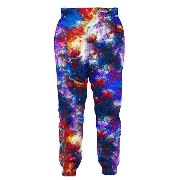 Graphic Space Astronaut Cat Sweatpants Funny Cat Joggers Pants Sports Trousers with Drawstring