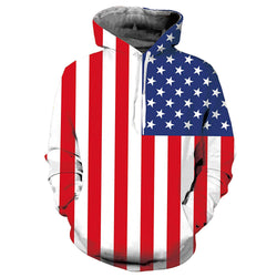 American Flag Graphic Hoodie