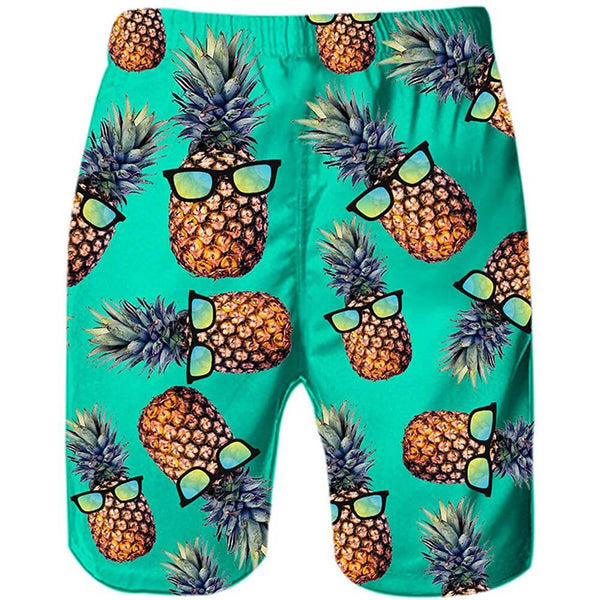 Green Pineapple Funny Swim Trunks