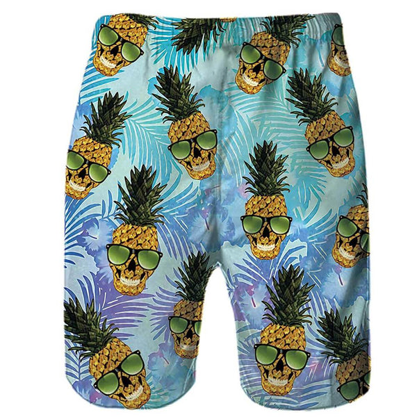 Skull Pineapple Funny Swim Trunks