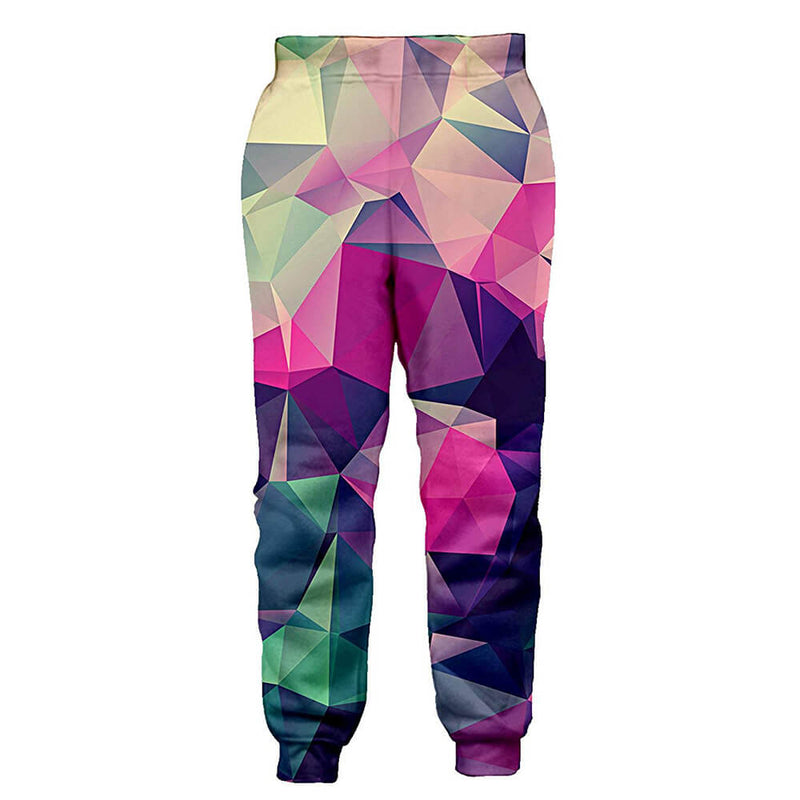 Graphic Colorful Diamond Sweatpants