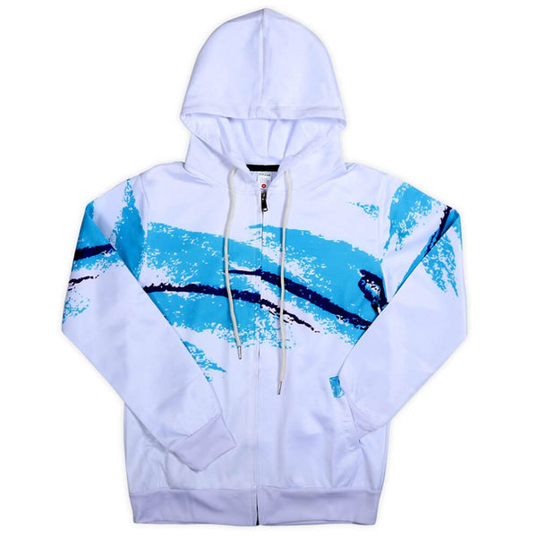 90s Paper Cup Zip Up Graphic Hoodie