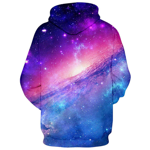 Pink Nebular Galaxy Hoodie Colorful Nebular Hooded Sweatshirt