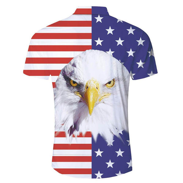 Funny American Flag Eagle Hawaiian Shirt