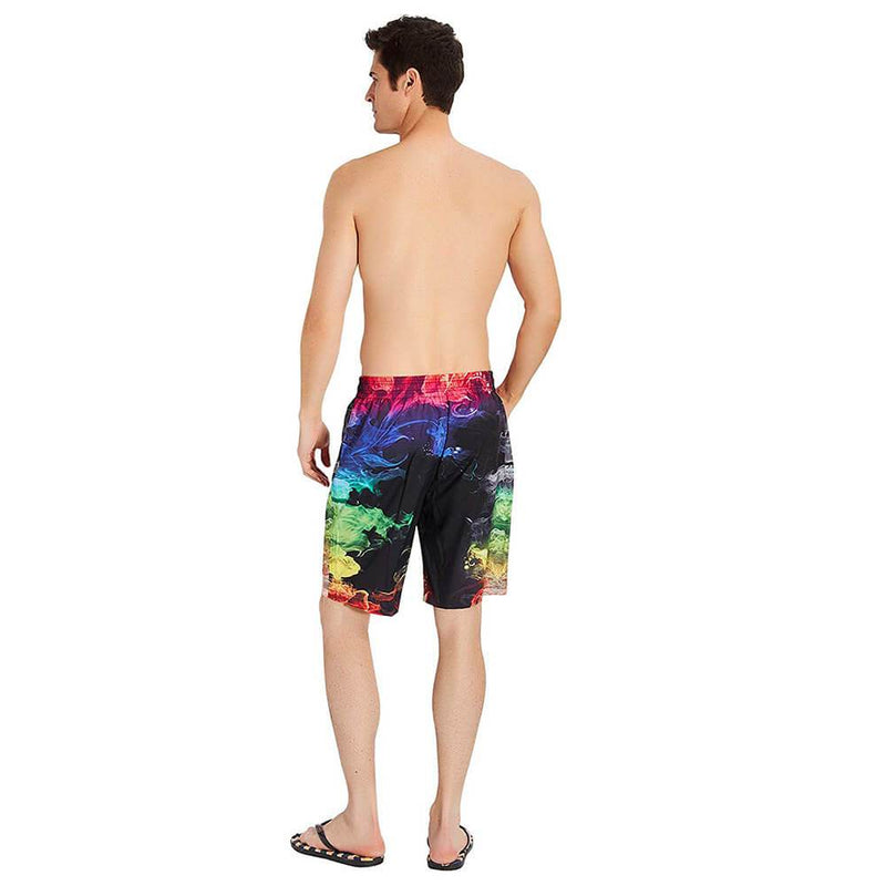 Colorful Smoke Funny Swim Trunks