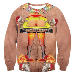 Funny Butt Lamp Ugly Christmas Sweater