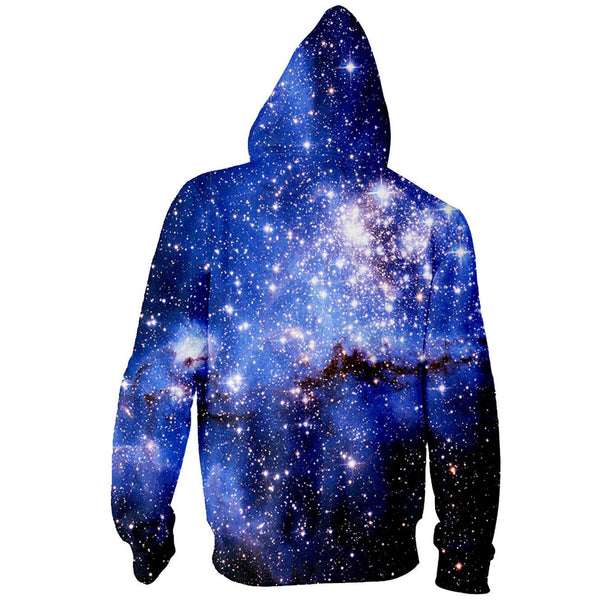 Unisex Space Galaxy Zip Hoodie Galaxy Zip Up Sweatshirt