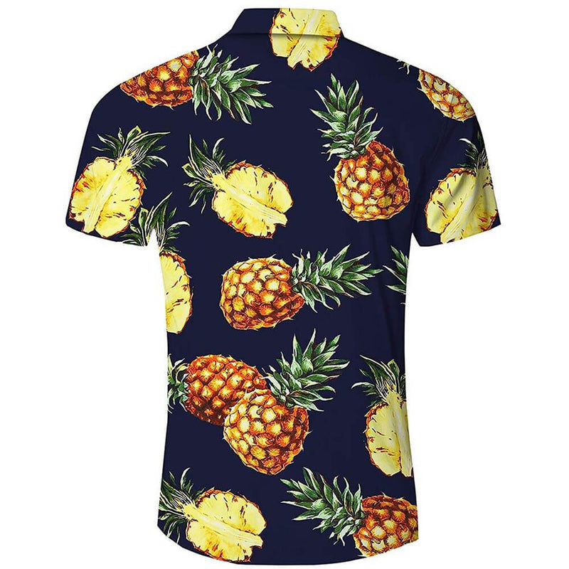 Dark Blue Pineapple Funny Hawaiian Shirt