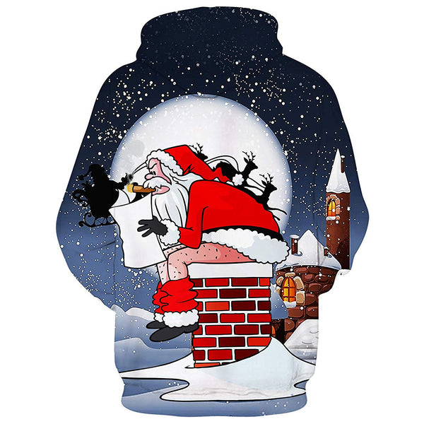 Santas Shit on Chimney Christmas Hoodie