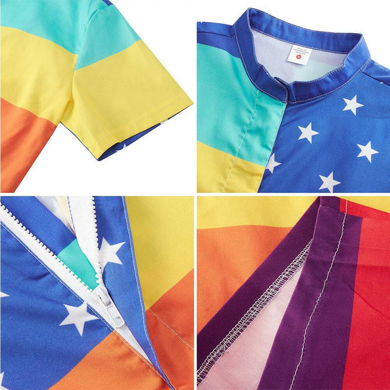 Flag Patriotic Rainbow Male Romper