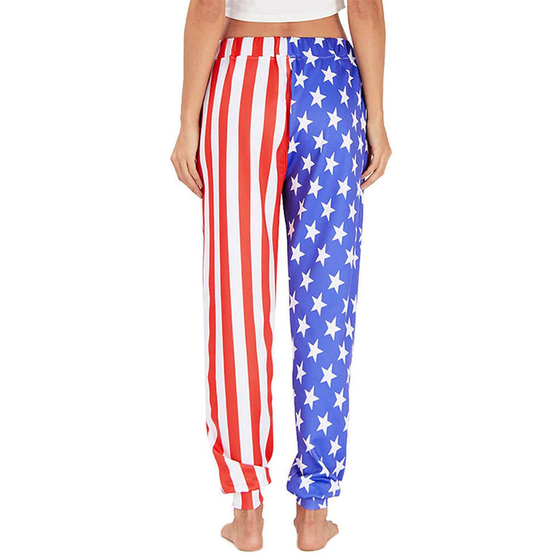 Graphic Funny American Flag Joggers
