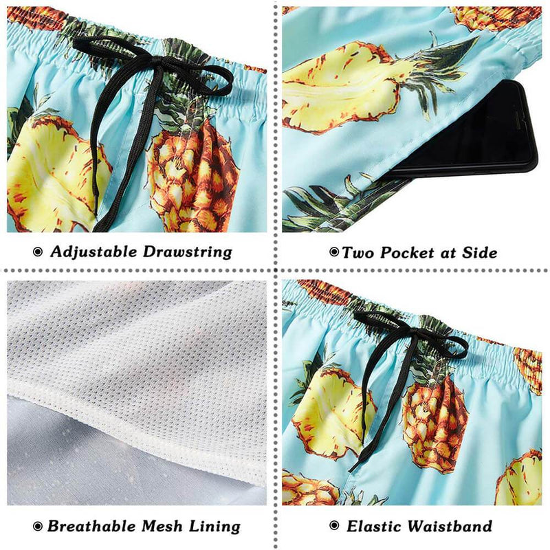 Pineapple Funny Swim Trunks