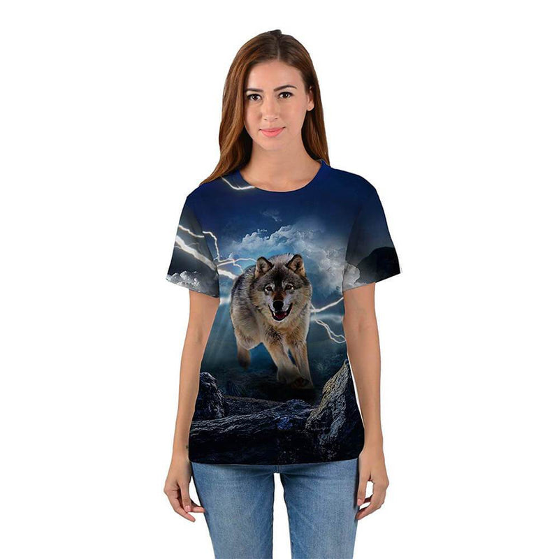 Lightning Thunder Wolf T Shirt