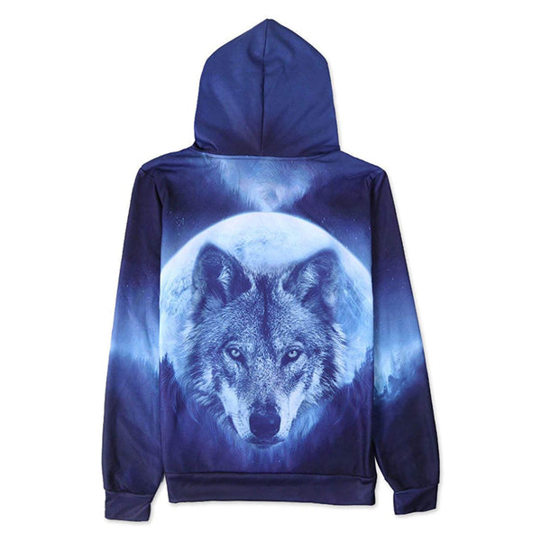 Full Moon Wolf Graphic Hoodie