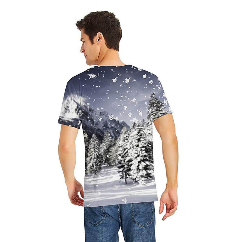 Couple Forest Snow Wolf T Shirt
