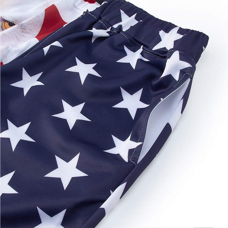 Graphic American Flag Eagle Joggers