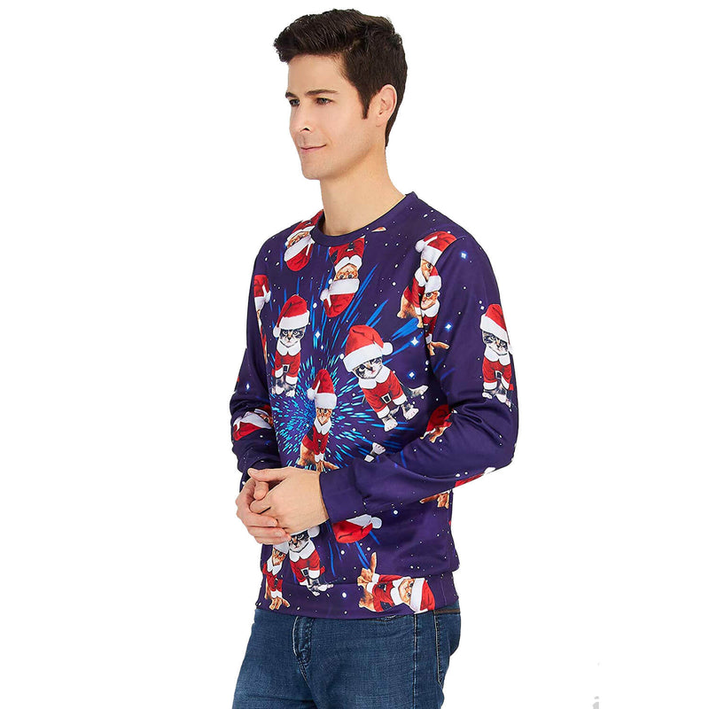 Space Cat Christmas Sweatshirt