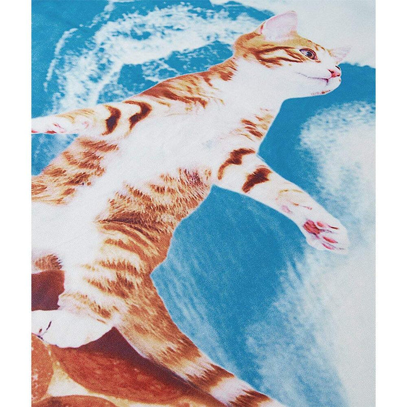 Coconut Tree Cat Surfing On Pizza T Shirt