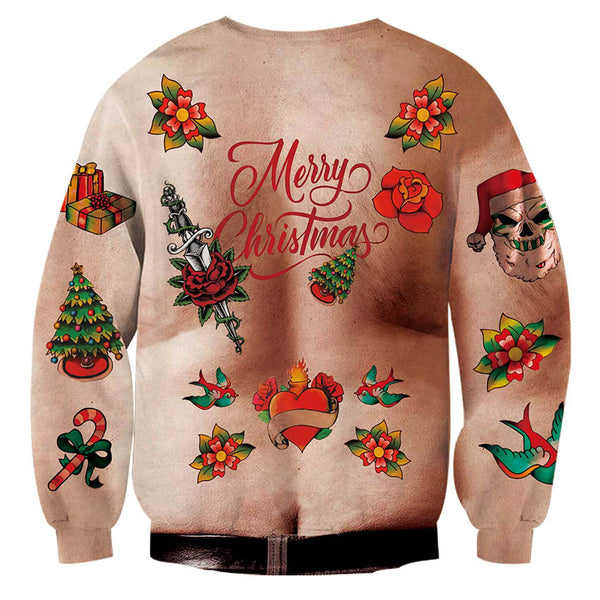 Ugly Chest Hand Christmas Sweatshirt