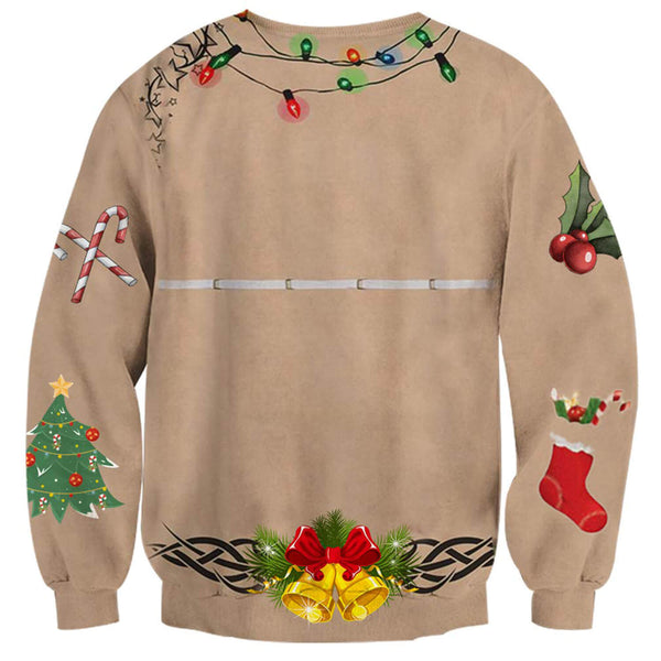 Ugly Chest Bell Bikini Sweatshirt Ugly Christmas Sweatshirt