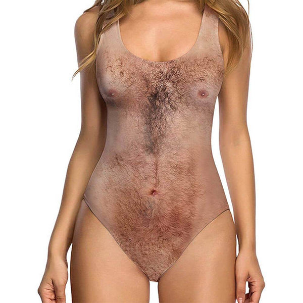 Chest Hair Ugly One Piece Swimsuit