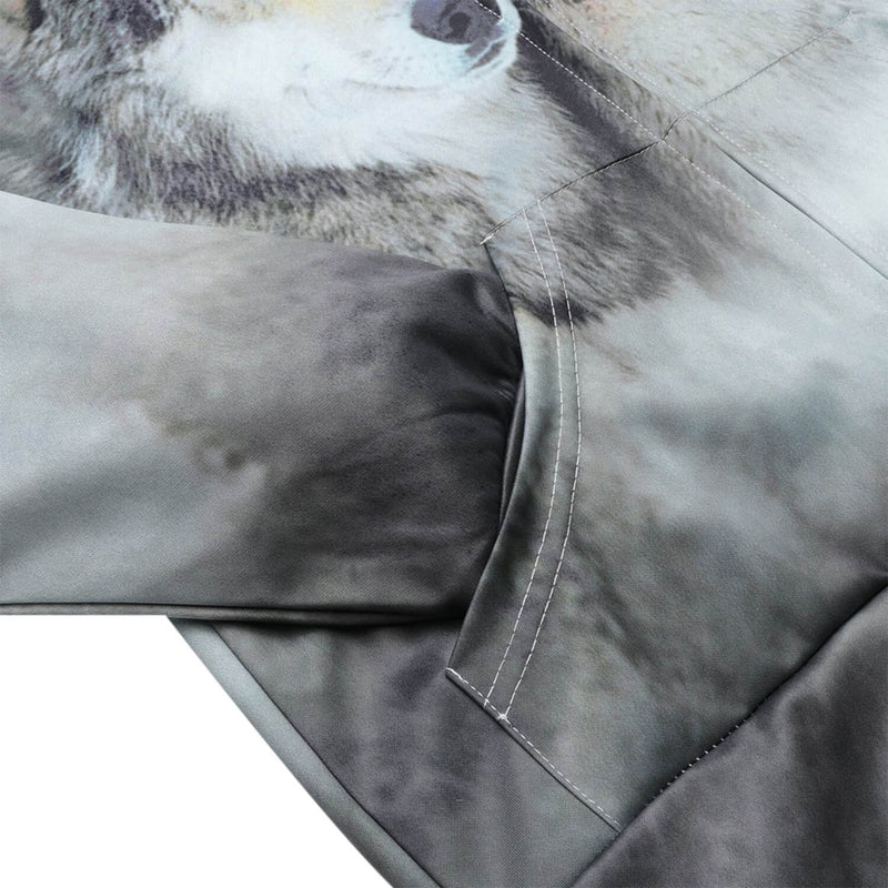 Couple Wolf Zip Up Hoodie