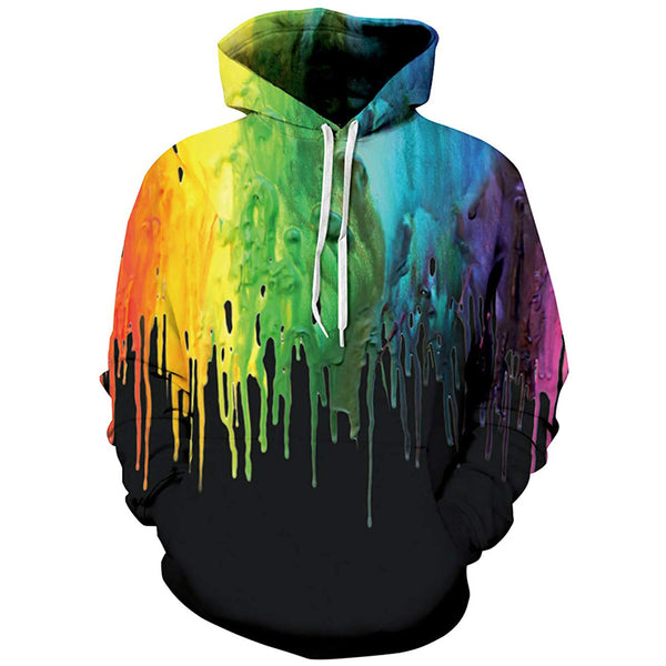 Black Painting Graphic Hoodie
