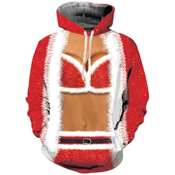Big Tits Christmas Graphic Hoodie
