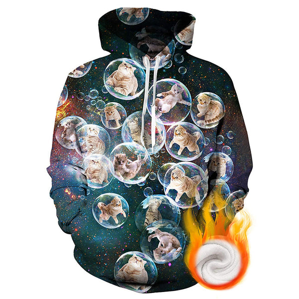 Bubble Cats Graphic Hoodie
