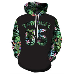 Tropical 65 Floral Graphic Hoodie
