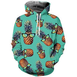 Green Pineapple Graphic Hoodie