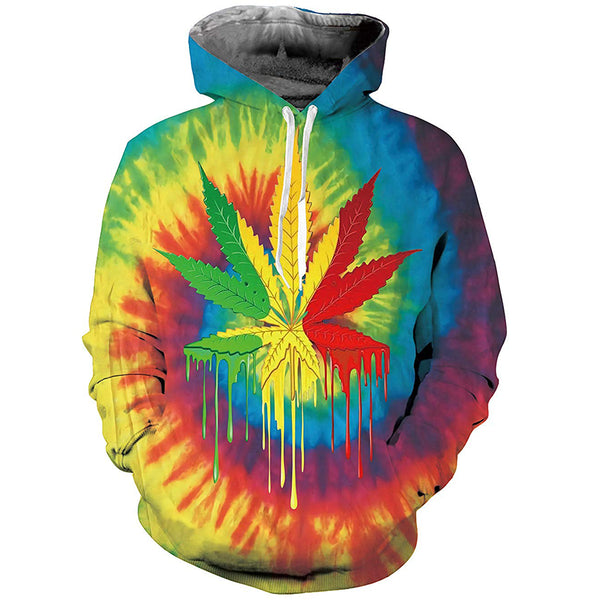 Colorful Weed Graphic Hoodie
