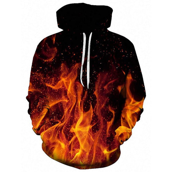 Fire Flames Graphic Hoodie