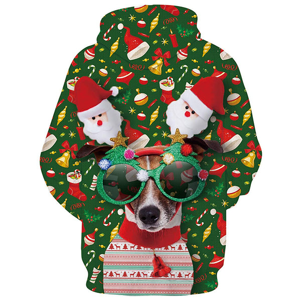 Christmas Dog Graphic Hoodie