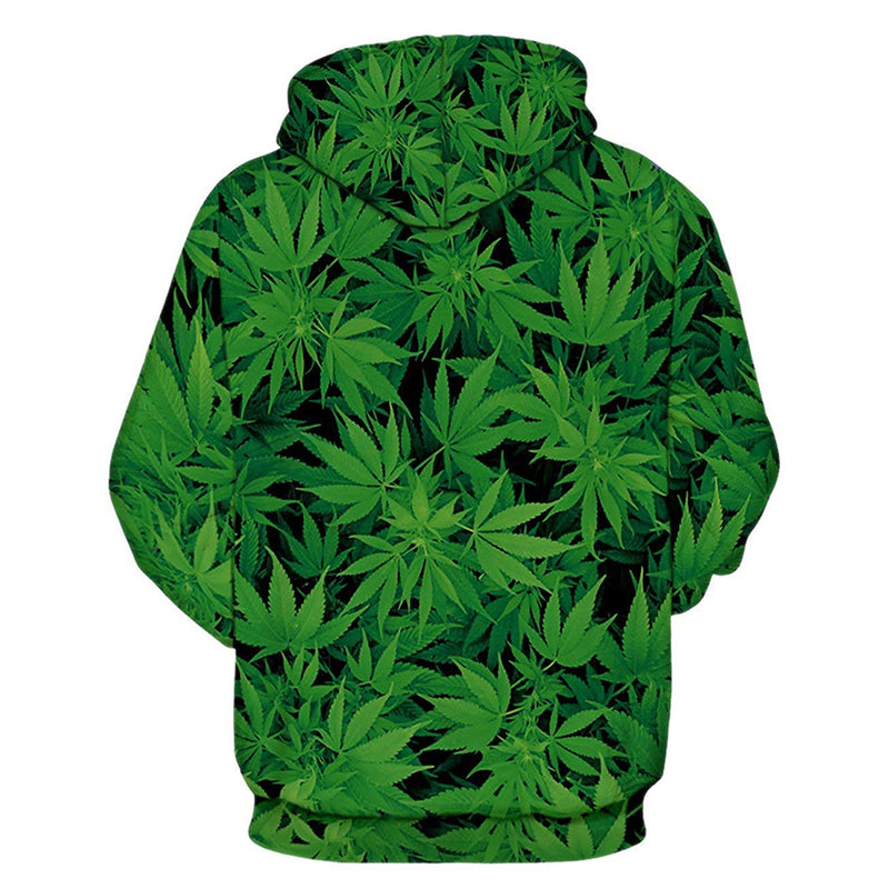 Green Weed Graphic Hoodie