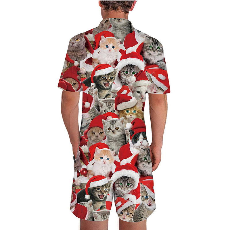Christmas Cats Male Romper