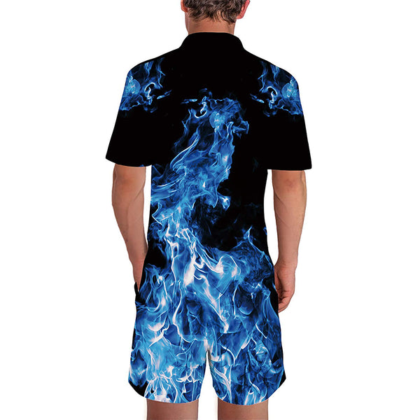 Blue Flame Male Romper